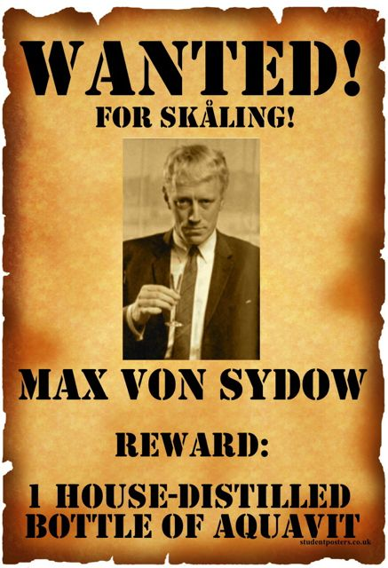 WANTED: Max von Sydown