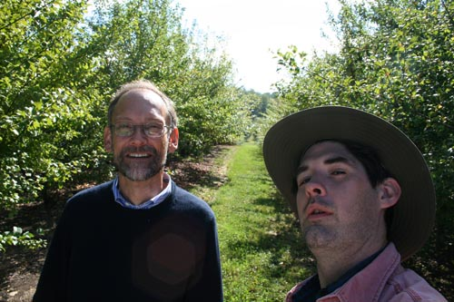 McGee and I after a lot of apples.