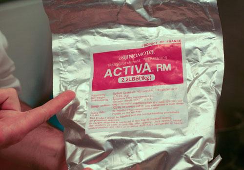Activa RM brand Transglutaminase from Ajinomoto aka Meat Glue