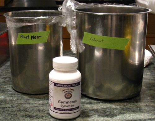 Gymnema Sylvestre capsules and low-quality varietal grape juice
