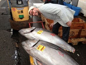 Mark poses with some tuna.