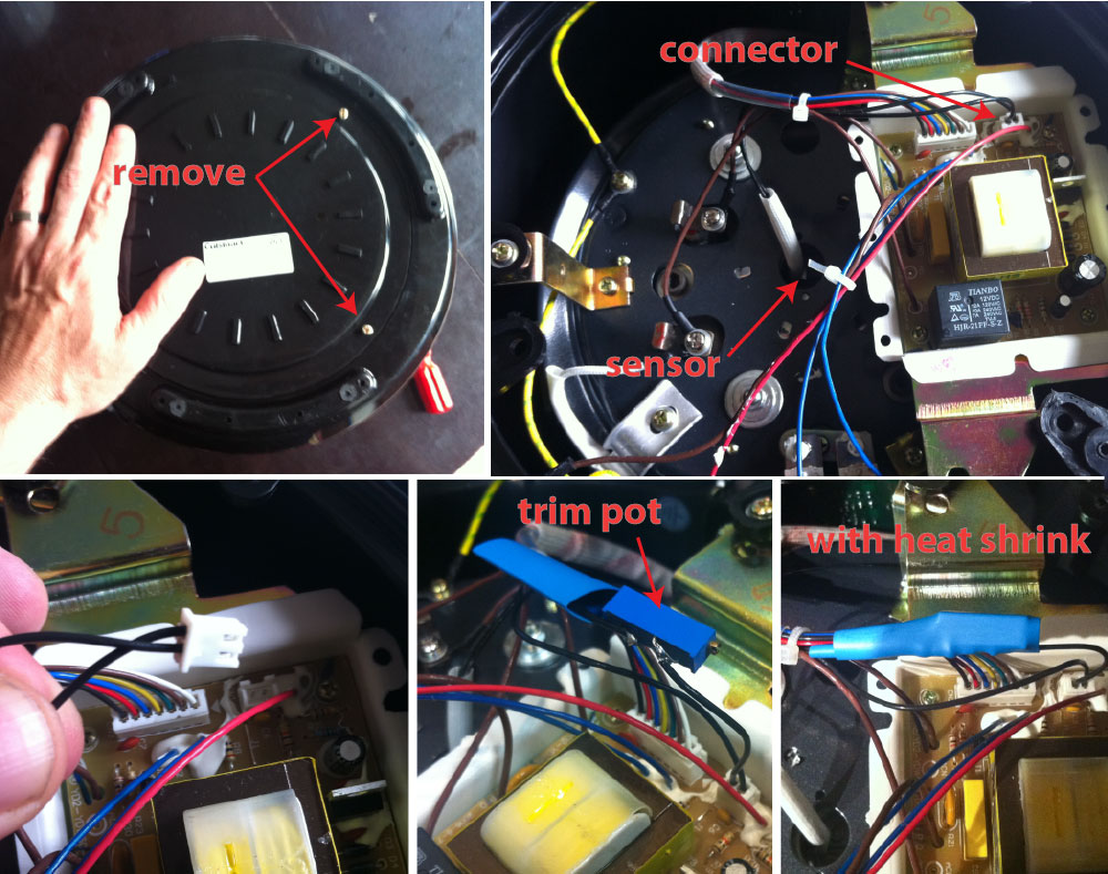 Rice Cooker Wiring Diagram Library Induction Stove Circuit Hacking A Better Pressure